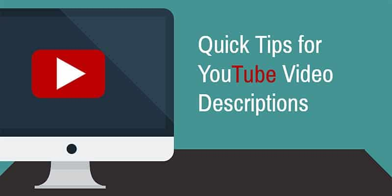 YouTube video descriptions