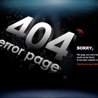 404 Error Page Ideas