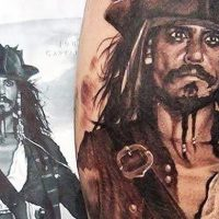 Jack Sparrow Tattoo Design