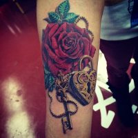 Lock and Key Tatoos