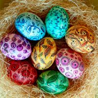 Water Color Eggs